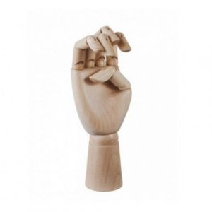 Main articulée déco en bois (H.25cm)