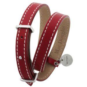 Mac Douglas 07200 - Bracelet double tout en acier et cuir