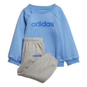 Adidas Ensemble / Linear Fleece Jogger Bleu/Gris - Taille 6-9 Mois