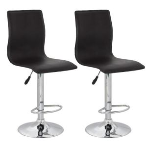 VidaXL Flow - 2 tabourets de bar design en simili cuir