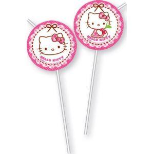 6 pailles Hello Kitty