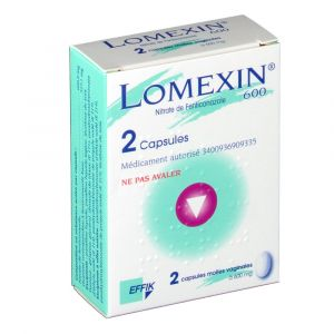 Effik Lomexin 600 mg - Capsule vaginale pour mycose (2 ovules)