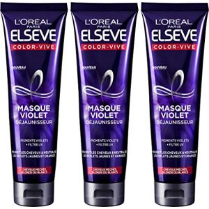 L'Oréal Elsève Color-Vive Masque Violet Déjaunisseur 150 ml - Lot de 3