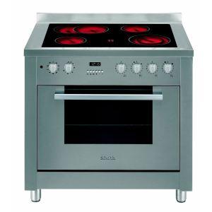 Scholtes CP 965 R - Cuisinière vitrocéramique 4 foyers avec four électrique 68 L