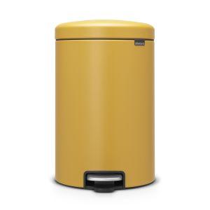 Brabantia Poubelle à Pédale newIcon, 20 litres, Mineral Mustard Yellow - 115943