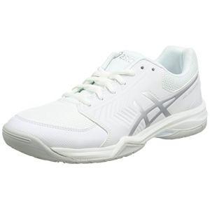 Asics Gel-Dedicate 5, Chaussures de Course pour Entraînement sur Route Femme, Blanc (White/Silver), 39 EU