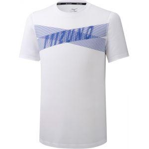 Mizuno Core Graphic T-Shirt Homme, white L T-shirts course à pied