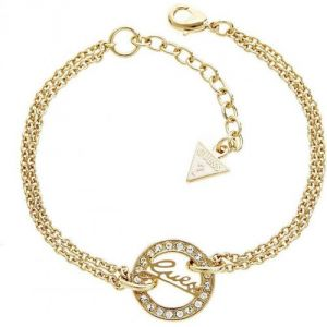 Guess UBB21502 - Bracelet en métal doré et strass pour femme