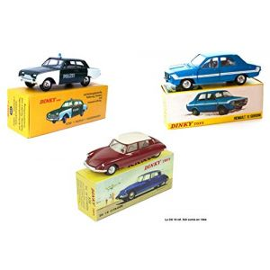 Atlas OPO 10 - Voitures Dinky Toys : R12 Gordini + Ford Taunus Police + CitrŒn DS 19