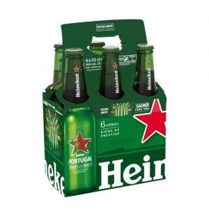 Heineken Bière blonde - Les 6 bouteilles de 33cl