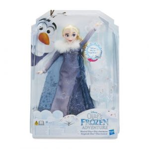Hasbro Poupée Elsa Chanteuse Joyeuses Fêtes avec Olaf (C2539)