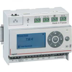 Legrand Ecocompteur d'énergie résidentiel EMDX³ 6 modules 110/230 V