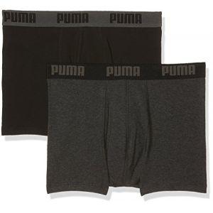 Puma Lot de 2 Boxers Basiques - Gris/Noir - S - Grey/Black