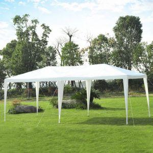 Outsunny Tente de réception style colonial imperméable 6 x 3 x 2,55 m + moustiquaires