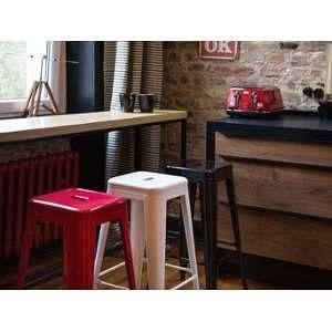 Beliani 2 tabourets de bar rouge de 76 cm Cabrillo
