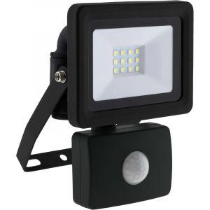 Elexity Projecteur LED 10W Noir avec détecteur - IP44 CE