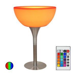 Vision-El Table de bar lumineuse LED RGB+W avec batterie et télécommande