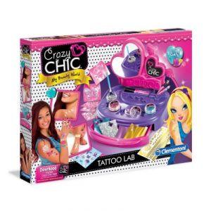 Clementoni Kit créatif Crazy Chic : Mon atelier Tatoo