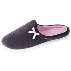 Isotoner Chaussons mules nud femme Gris