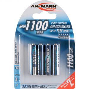 Ansmann 4 piles rechargeables AAA 1100mAh