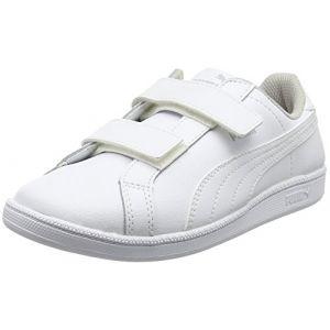 Puma Psmashfunlvpsf6, Basses Mixte Enfant - Blanc White White 04, 34 EU