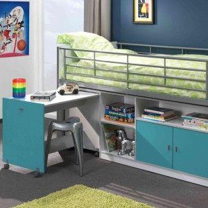 Vipack Furniture Lit combiné Bonny pour enfant 90 x 200 cm