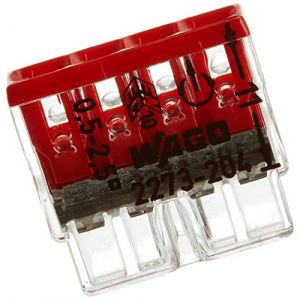 Wago Boite de 100 mini bornes de connexion automatique 4 entrées S2273