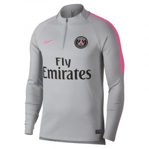 Nike Haut de football à manches longues Paris Saint-Germain Dri-FIT Squad Drill pour Homme - Gris - Taille M