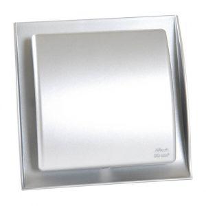 Nicoll Grille design Ø125 conforme réglementation gaz inox brossé GDT125X -