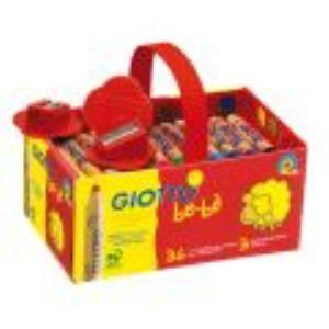 Giotto be-bé : 36 super crayons de couleurs avec taille crayon