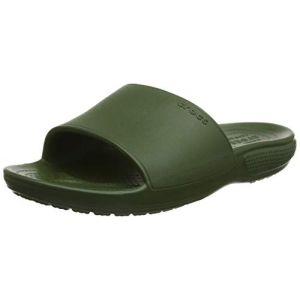 Crocs Classic II Slide - Sandales de marche taille M8 / W10, vert olive