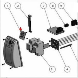 9382118 - Carte interrupteur de réchauffeur Aqua-Line