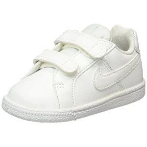 Nike Court Royale (TDV), Chaussures de Football Mixte Bébé, Blanc, Blanc Cassé (White/White), 21 EU
