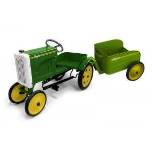 Baghera Tracteur et sa remorque à pédales