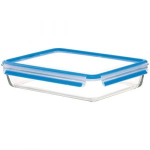 Emsa Boîte alimentaire Clip & Close Verre rectangulaire 3,0L