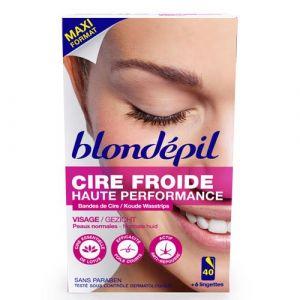 Blondépil Cire froide Visage (x 40 bandes)
