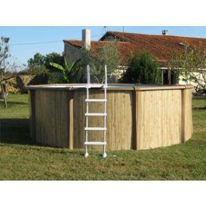 sunbay 770793 piscine freedom ronde hors sol en mtal aspect bois - Piscine Hors Sol Metal Aspect Bois