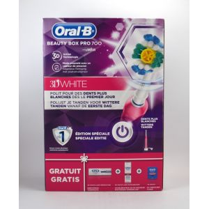 Oral-B Beauty Pack Pro 700D White - Hydropulseur
