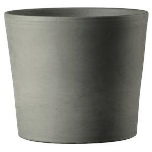 Deroma Vase Cilindrico Gris grafite en terre cuite D30 x H25,8