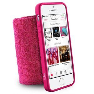 Puro IPC5RUNPNK Brassard de Poignet pour iPhone 5/5S Anti humidité Rose