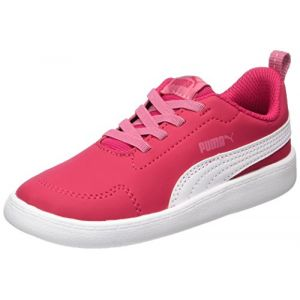 Puma Courtflex Inf, Sneakers Basses Mixte Enfant, Rose (Love Potion-White), 22 EU