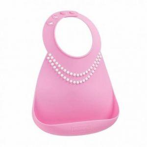 Bulle de BB Bavoir en silicone souple effet collier de perle chic
