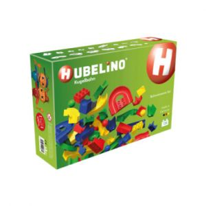 Hubelino Circuit à billes à monter - À partir de 4 ans - compatible avec Duplo - 128 pièces, 420381 - version allemande