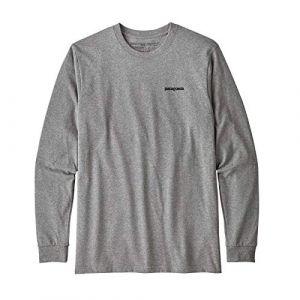 Patagonia T shirt manches longues p 6 logo responsibili tee gris l