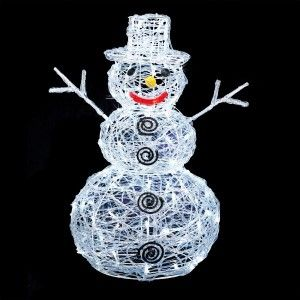 Conforama Bonhomme de neige lumineux Carlo Blanc froid 100 LED