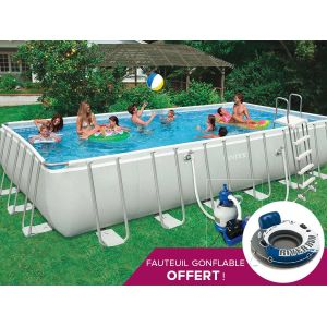 Intex 28362 - Piscine tubulaire rectangulaire 7,32 x 3,66 x 1,32 m