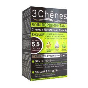3 Chênes Soin repigmentant cheveux naturels ou colorés - 5.5 châtain clair acajou