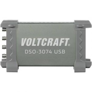 Voltcraft Oscilloscope USB DSO-3074 70 MHz 250 Méch/s 16 kpts 8 bits 4 canaux