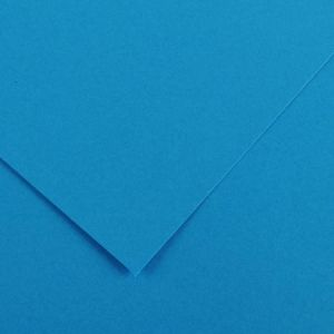 Canson 200040168 - Feuille Iris Vivaldi A4 185g/m², coloris bleu azur 22