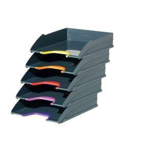 Durable Set de 5 Corbeilles à courrier Varicolor